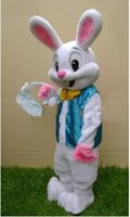 Wholesale 2016 high quality the Easter bunny mascot costume adult costume cartoon set a new Easter dress dress