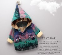 baby national - New winter children go out take han edition of private years old baby national wind hooded fleece jacket