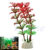 Wholesale Artificial Grass Plastic Water Plant For Aquarium Decoration Fish Tank Ornament
