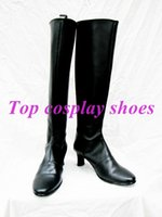 Wholesale Suigintou Cosplay Costume - Wholesale-Rozen Maiden Suigintou Mercury Lampe GINTAMA Kagura leader Cosplay Shoes Boots Custom-Made #NC089 Halloween Christmas shoes