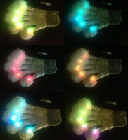 Wholesale Cheap LED gloves street dance special warm ball flashing gloves Entertainment carnival gloves