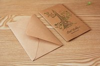 Wholesale 8 kind of greeting cards Envelope Sen Department of Hollow Kraft Paper Exquisite birthday festive greeting card blessing card retro color