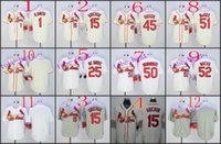 best bobs - St Louis Cardinals bob gibson Baseball Cool Base Jersey Best quality Authentic Jerseys Embroidery Logo Size M XL Mix Order