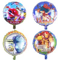 balloon plane - 18inch Children Monsters University Iron Man Planes Anuris Helium Balloons Party Foil Balloon Decorations Kids Birthday Inflatable Balloons