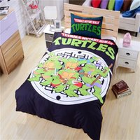 Wholesale 2016 New Ninja Turtle Bedding Duvet Cover TMNT Bedding Soft Funny Bedding Gift for Teenage Kids Twin Full Queen