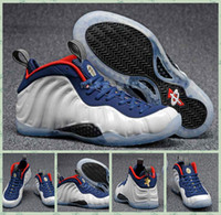 Men basketball court sizes - 2016 Newest Air Penny Hardaway Foam One Olympic USA Men Foams Basketball Shoes Trainer Sneakers High Quality Sport Shoes Size