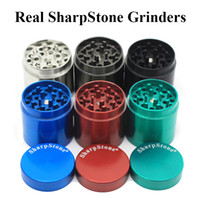 Wholesale Original SharpStone Grinders Alloy Herb Tobacco Grinder herbal Piece Grinder Spice Crusher Cigarette Machine Magnet Strainer Inside