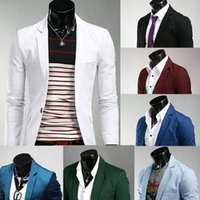Wholesale Plus Size Mens Blazers Coats Suit Jackets Personalize Slim Fit Long Sleeve Men Single Breasted Nightclub Shiny Suit Blazer For Men J160205