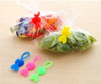 Wholesale Reuseable Silicone Heart Shape Bag Clip Tea Coffee Food Sealing Snacks Clamps Food Closure Kitchen Home Storage Organization Accessories