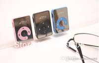 Wholesale 50pcs Metal MINI Clip MP3 Player with card slot Earphone usb cable pe bag dhl free ship vv