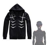 Al por mayor-Anime de Japón Tokio Ghoul Kaneki Ken Cosplay con capucha capa de la chaqueta con capucha Moda Tops traje traje de cosplay