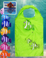 Wholesale Home Storage Organization bags tote Tropical Fish Foldable Eco Reusable Shopping Bags cartoon Handle Bags Easter egg bag festive gift bag