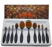bb brush - Foundation Brush Anastasia Oval Makeup Brushes Cosmetic Foundation BB Cream Powder Blush Brushes with Retail Box set