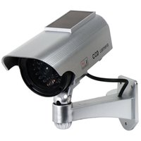 Wholesale Surveillance wireless Security Camera Dummy IR Simulation Fake cam ccd Camera solar power waterproof Red Light LED Flashing fake cameras