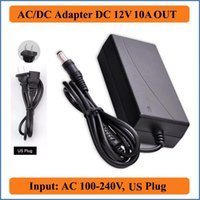 Wholesale 12V A US Plug AC DC Adapter AC100 V Converter to DC12V W Power Supply Charger for SMD LED Light LCD Monitors