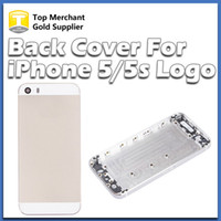 Wholesale For iPhone G Back Housing Cover Case Battery Back Door Replacement Cell Phones Parts Black White Gold Color