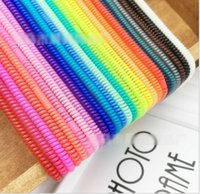 Wholesale Cute Wrap Cable Wire Protector cm Tidy Earphone Winder Organizer Holder for USB MP3 MP4 KB524