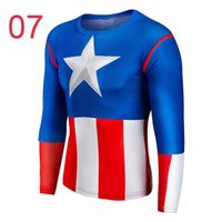Wholesale 2016 Long Sleeve Shirts SuperHero Tops Well fitted And Light Weigh Spider Man Batman Flash Compressed Cycling Shirts Riding Tops