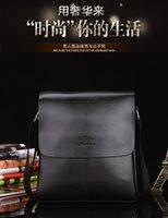 Wholesale New Brand Designer Men Genuine Leather Handbag Black Brown Briefcase leather Laptop Shoulder Bags Messenger Bag