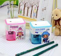 Wholesale Cute electric pencil sharpener cartoon student automatic secure time saving pencil sharpener Desktop School Stationery Office