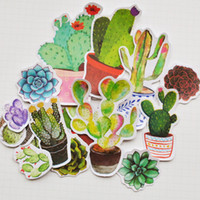 Wholesale 22pcs Self made Potting Cactus Plants Scrapbooking Stickers Decorative Sticker DIY Craft Photo Albums Decals Diary Deco