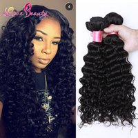 Wholesale 50 Dyeable Peruvian Malaysian Mongolian Hair Products Brazilian Virgin Hair Deep Wave or Bundles per Human Hair Weave No Tangle