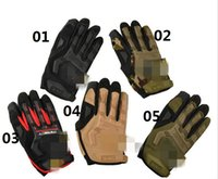 Wholesale Mecnanix Wear M Pact Military Tactical Army Combat Shooting Bicycle Motorcross Paintball Full Finger Gloves For Camping Climbing Bick jy511