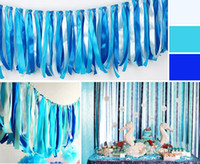 Wholesale 39 inch Wedding banner decoration satin ribbon tassel garland birthday party decor colorful rainbow festive christmas props supplies