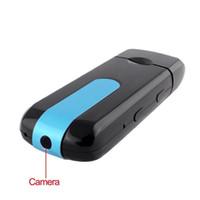 Wholesale 10pcs U8 HD Mini USB Disk Camera DVR Motion Detect Camera Cam SPY Hidden Camera Portable Candid Camera Video Recorder