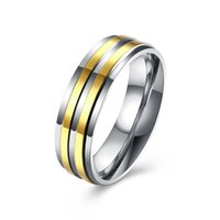 Wholesale Couple Rings For Men K Gold Plated Stainless Steel Engagement Ring Wedding Jewelry