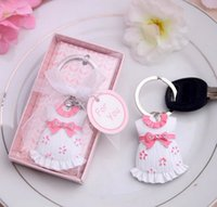 baby shower keychain favors - DHL Boy Girl Keychain Baby Cloth Keychain Wedding Favors And Gifts Wedding Souvenirs Wedding Supplies Baby Shower Favors