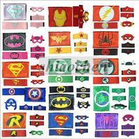 arm performance - Kids Superhero Cape Mask Arm Bands Belts Superman Spiderman Batman Flash Robin Hulk Thor Ironman Cosplay Costumes Party Wrist Cuffs B274