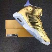 Wholesale 2016 Top Replicas retro air Gold Oscars white basketball sports shoes retro s sneakers outdoor trainers size
