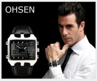 analog industries - Genuine Leather Wrist Gift Hot Sale Fashion OHSEN AD0930 Men s Sports Hardlex Military Wristwatches Watches Cheap gift industry