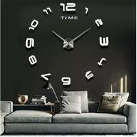 Wholesale Modern Fashion DIY Large Wall Acrylic Clock D Sticker Quartz Cute Number Round Clock Home Wall Decor