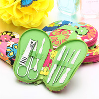 Wholesale Cartoon Flower Slipper Case Nail Tool Kit set Stainless Steel Scissors Manicure Tools High Quality