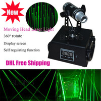 Wholesale 360 Rotation Single Green mw Laser Light Mini Moving head Laser Rain for Bar Stage DJ Laser Web Laser Curtain Light with DMX512 Model