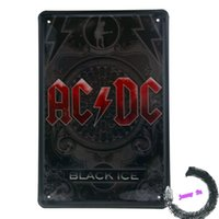 acdc black ice - Tin Sign Old skool Heavy Metal Rock Band ACDC Black Ice Art Wall Decor Rocker K50