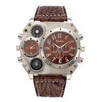 antique military pins - Time Zones Men s Watch Oulm Luxury Brand Men Full Steel Watch Golden Big Size Antique Male Casual Watches Military Wristwatch Relogio Mascul