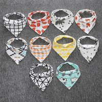 adjustable boring head - Ins Baby Bandana Bibs Infant Burp Cloth Terry Fox Bear Bandana Bibs Saliva Towel Triangle Head Scarf Long Absorbent Adjustable Bib