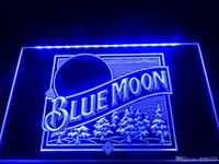 beer moon - LE167b Blue Moon Beer Bar Pub Logo Neon Light Sign