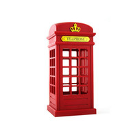 antique telephone desk - Retro Antique London Telephone Booth Designed USB Charging LED Desk Night Lamp Touch Adjustable