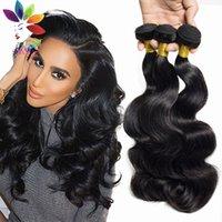 Wholesale 7A Brazilian human Hair Body Wave Bundles Unprocessed Human Hair products Brazilian Hair Weave Bundles Brazilian body wave
