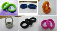 Wholesale Silicone Unisex Wedding Rings Band Fashion Jewelry Punk Sports Style Silicone Jewelry Small Environmental Gift By Fly_Dream