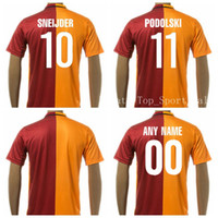 Wholesale 16 Galatasaray SK Jersey Football Shirt SNEIJDER PODOLSKI Soccer Jersey Thailand Quality Customized Orange Red Team Color
