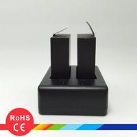 USB dual del muelle del cargador 750mA Batería adecuada para la cámara GoPro SJ4000 SJ5000 SJ6000 SJ7000 SJ8000 SJ9000