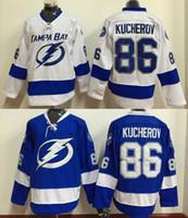 bay c - 2016 Men Tampa Bay Lightning Ice Hockey Jersey Nikita Kucherov Blue White Black C Patch Stitched Jerseys