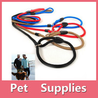 adjustable strap shoes - Classic Pet Dog Puppy Nylon Rope Training Leash Lead Strap Adjustable Traction Collar With Colors