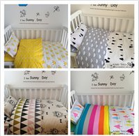 baby down duvet - New Arrived Hot Ins crib bed linen baby Bedding set include pillow case bed sheet duvet cover without filling