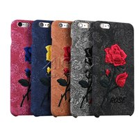 art phone covers - Rose Flower Embroidery Phone Case PP Soft Glue Material Soft Shell Art Print For Iphone S Iphone S Plus Back Cover